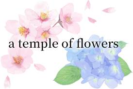 a temple of flowers